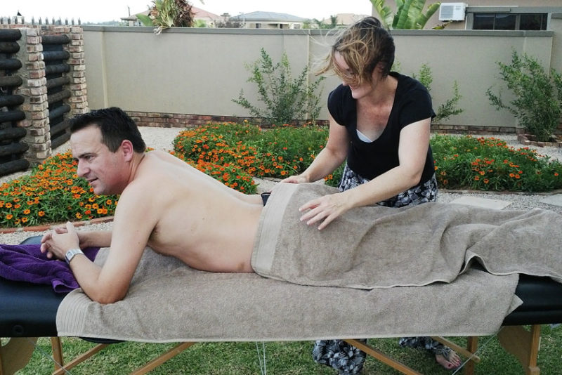 Outdoor Massage at Karoo Palet Self Catering